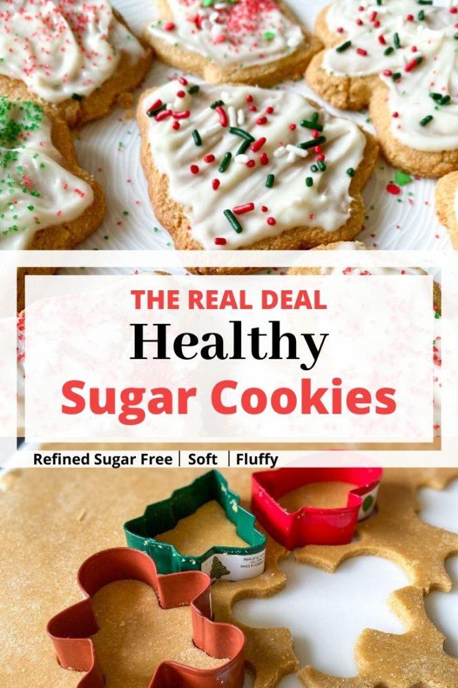 Healthy Sugar Cookies Pin Pinterest
