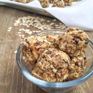 healthy almond joy protein bites