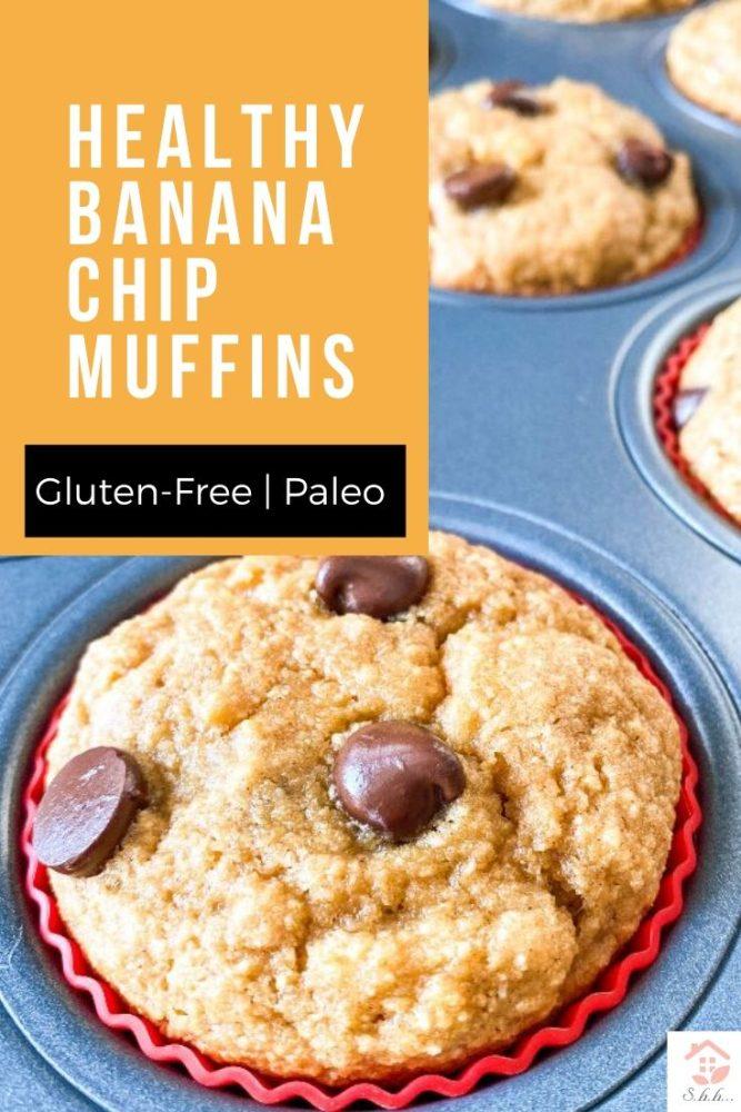 healthy banana chip muffins pinterest pin