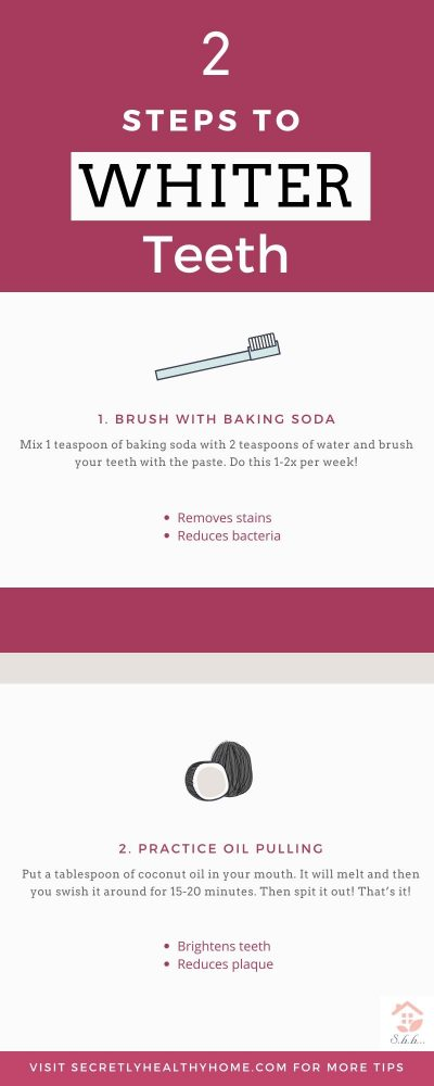whiten your teeth using coconut oil and baking soda