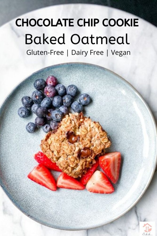 Chocolate chip cookie baked oatmeal pinterest pin