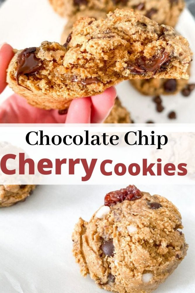 chocolate chip cherry cookies pinterest pin