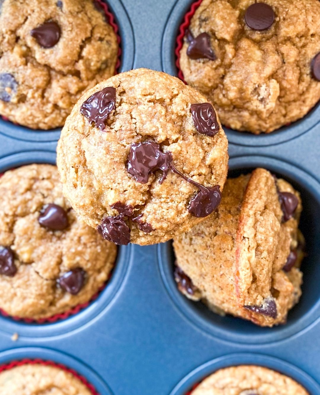Healthy banana chip muffins (gluten-free + Paleo)