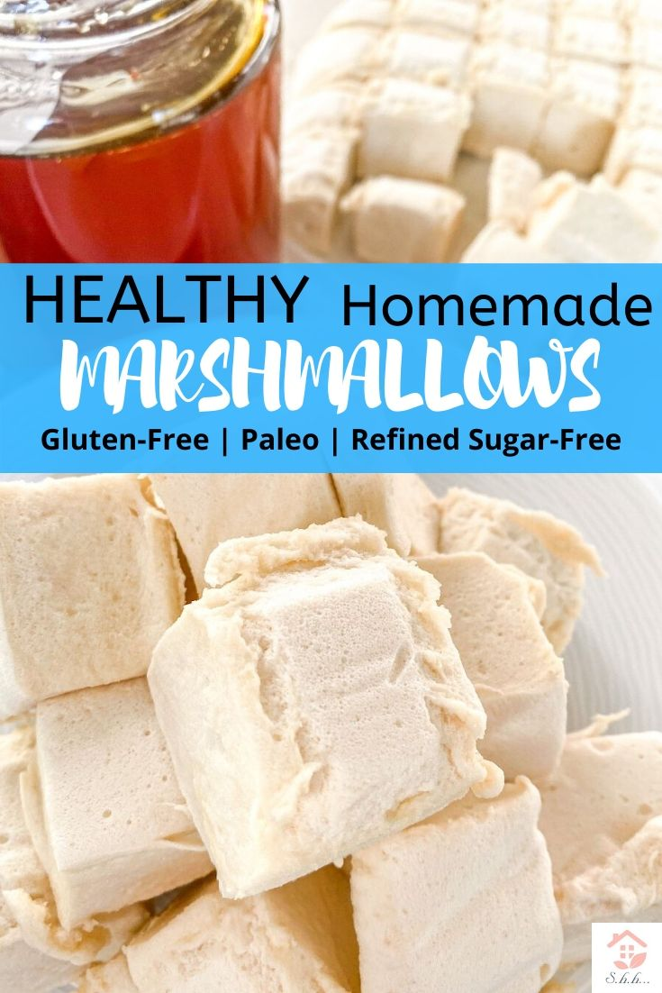 Find out how to make homemade marshmallows the easy way! Healthy marshmallow recipe with only 5 ingredients and no baking! Sweetened with honey and packed with antioxidants!