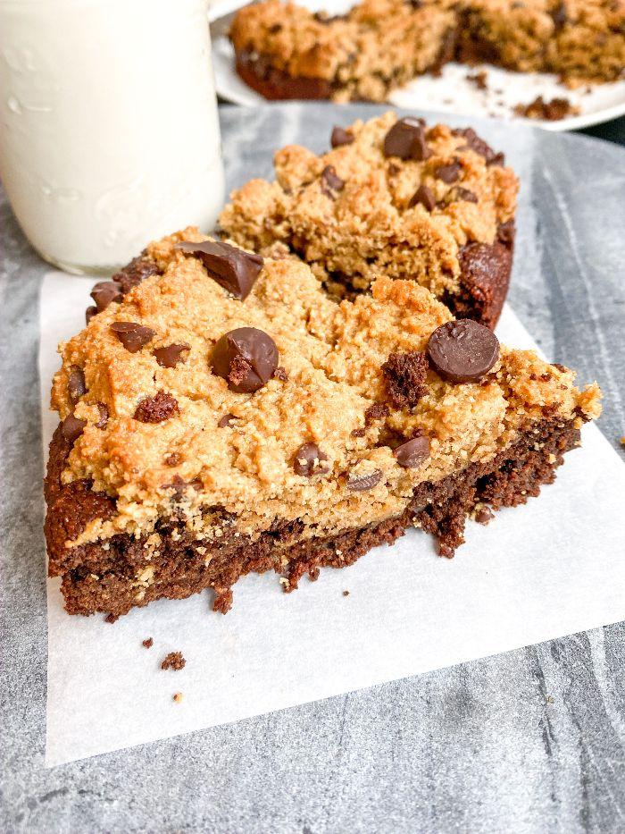 chocolate chip cookie brownie skillet