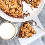 Chocolate Chip Cookie Brownie Skillet (gluten-free)