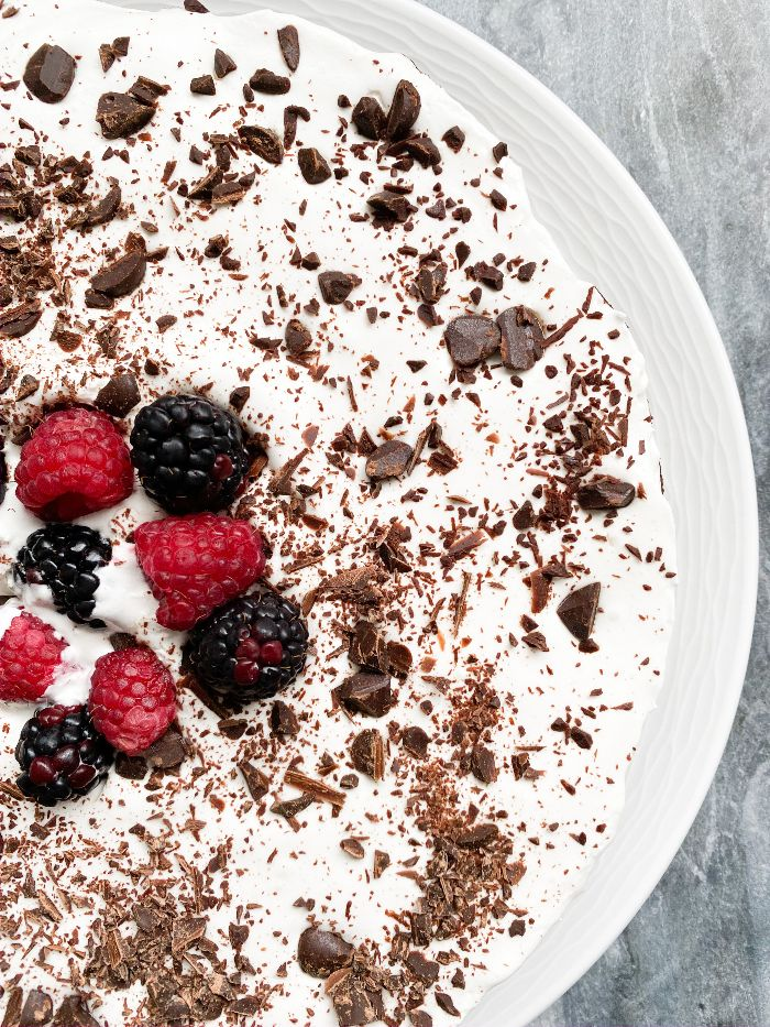 chocolate mousse cake with raspberry