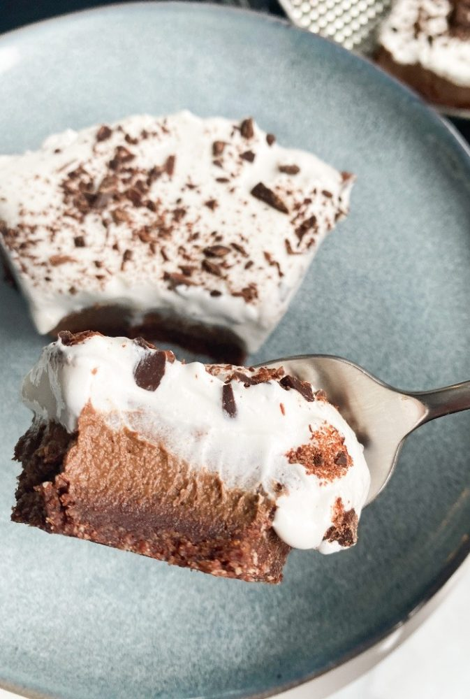 bite of secretly healthy mousse cake