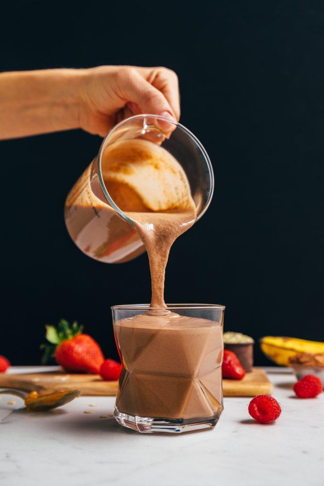 vegan chocolate protein smoothie no protein powder