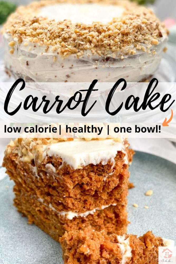 healthy carrot cake pinterest pin