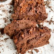 Healthy Chocolate Banana Bread (Gluten-Free)