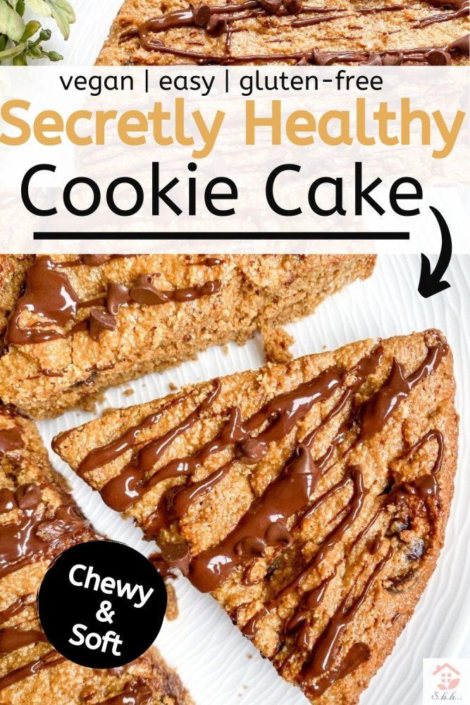 Secretly Healthy Cookie Cake