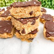 Peanut Butter Cookie Dough Bars – No Bake!