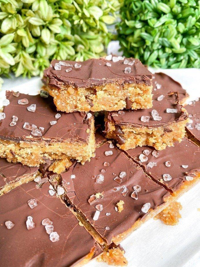 no bake gluten free cookie bars