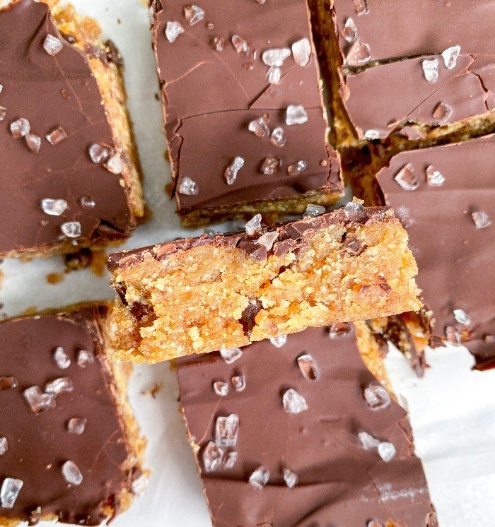 edible healthy cookie dough bars
