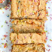 Birthday Cake Banana Bread (Gluten-Free)