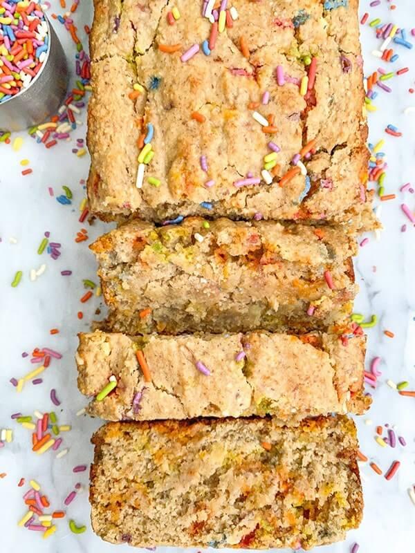 Birthday Cake Banana Bread