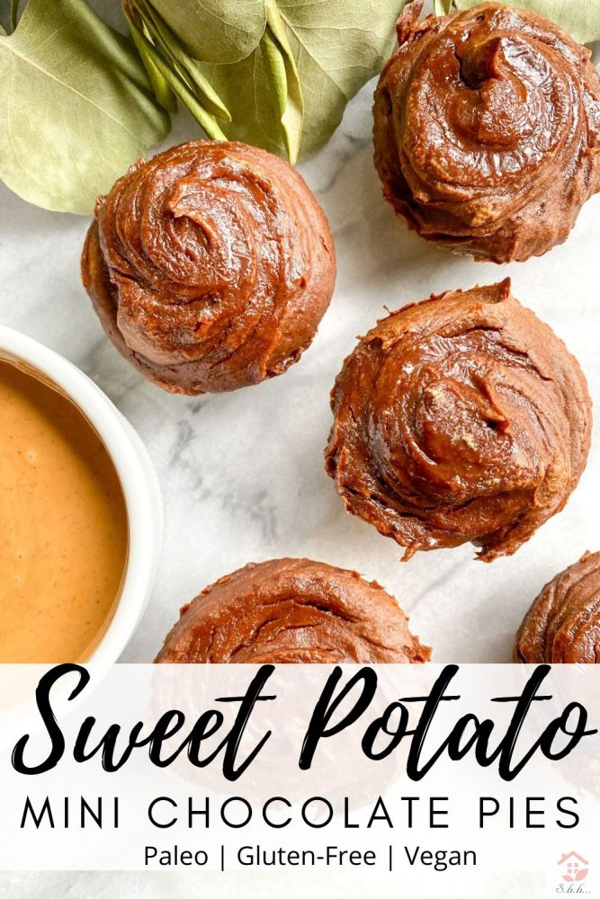 sweet potato mini chocolate pies pinterest pin