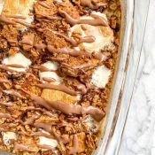 Nutella S'mores Baked Oatmeal Recipe (Vegan)