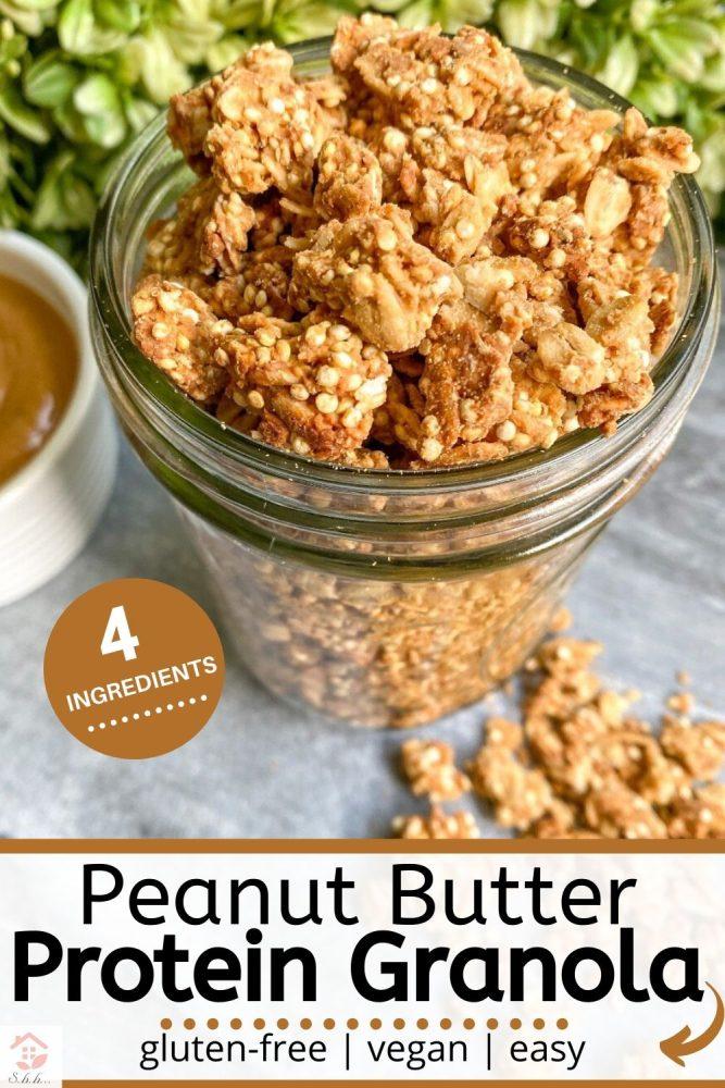 peanut butter granola pinterest pin