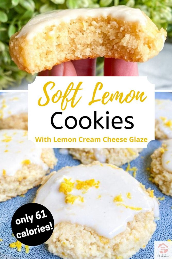 lemon cookies with lemon cream cheese glaze