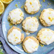 Soft Vegan Lemon Cookies (Gluten-Free)