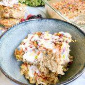 Funfetti Cake Batter Baked Oatmeal (Healthy!)