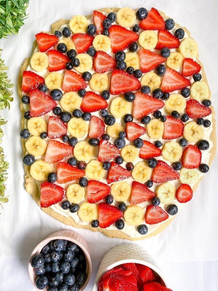 sugar cookie crust healthy fruit pizza