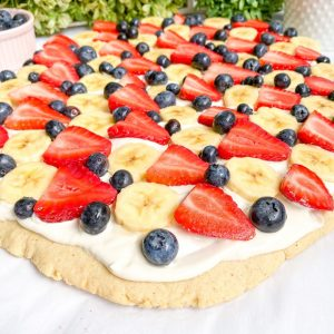 Healthy Fruit Pizza (gluten-free)