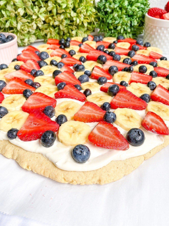 Healthy Fruit Pizza (gluten-free)