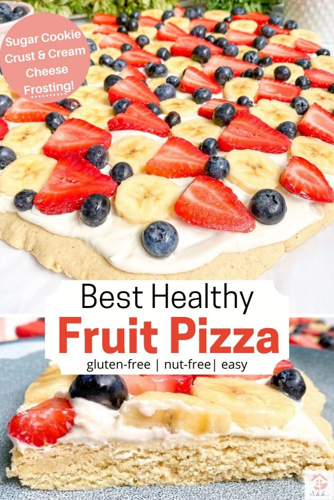 best healthy fruit pizza pinterest pin