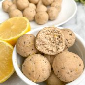 Lemon Protein Balls (No-Bake!)