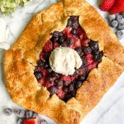 Gluten-Free Berry Galette (Vegan Option!)