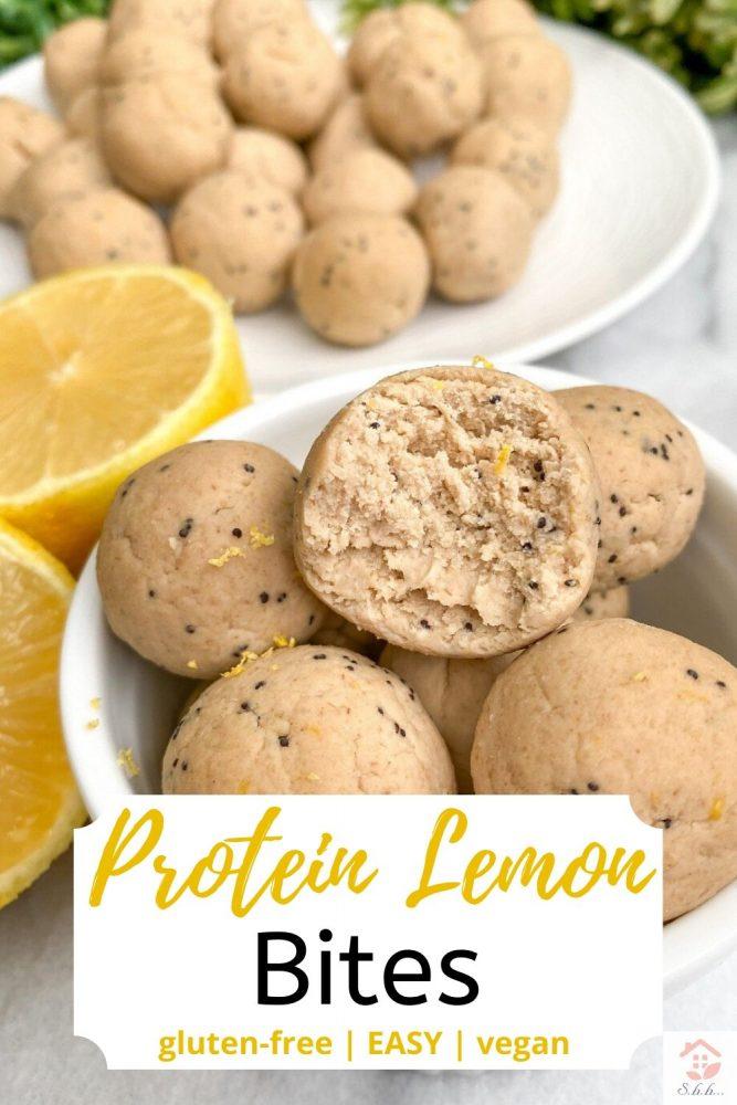 protein lemon bites pinterest pin