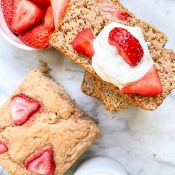 Strawberry Shortcake Banana Bread (Vegan + GF)