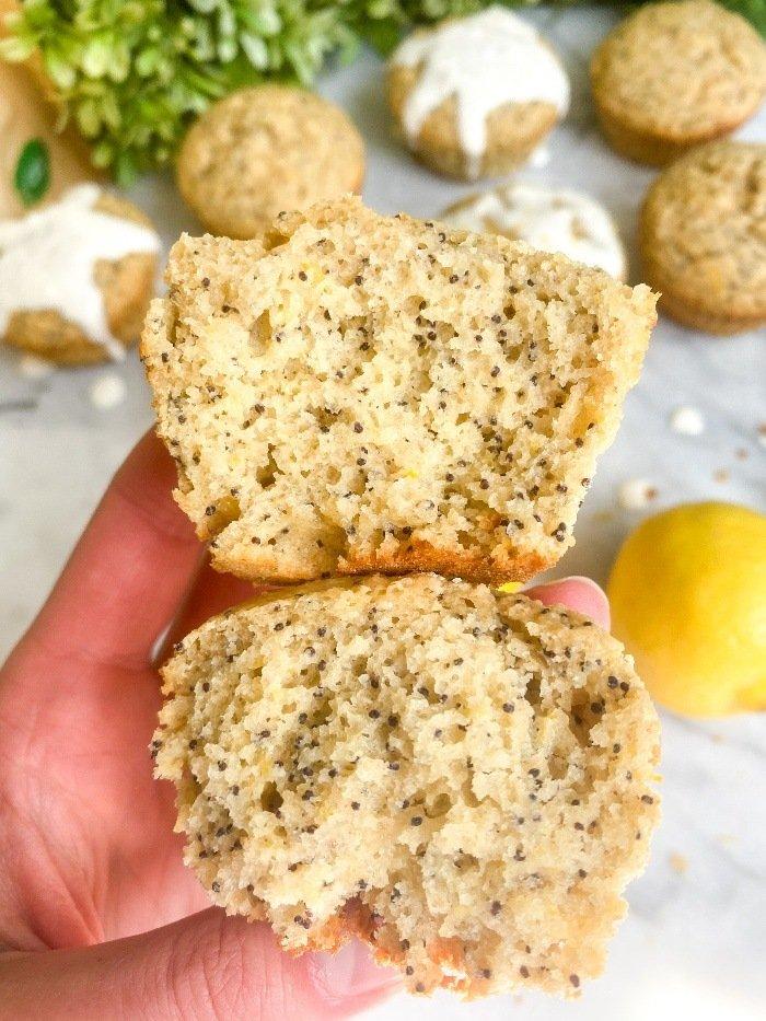 oat flour lemon muffins
