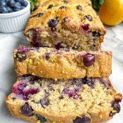 Lemon Blueberry Banana Bread (Gluten-Free)