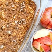 Apple Pie Baked Oatmeal (Protein + Healthy!)