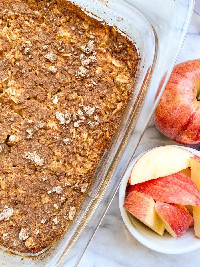 healthy apple pie baked oatmeal recipe