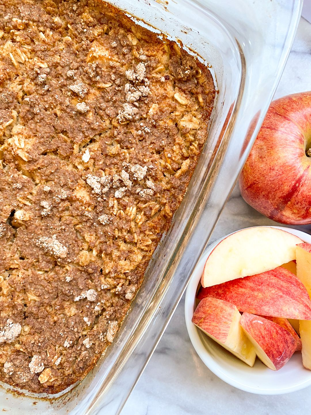 healthy apple pie baked oatmeal recipe