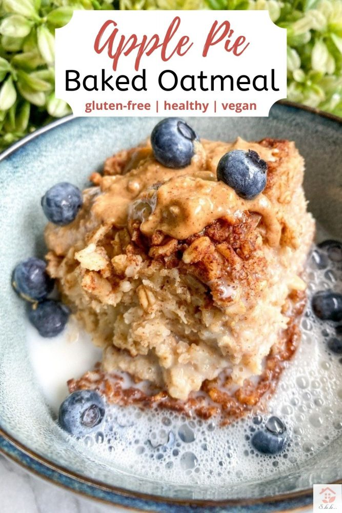 cinnamon apple baked oatmeal pinterest pin