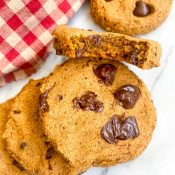 Best Vegan Pumpkin Chocolate Chip Cookies (Oat Flour!)