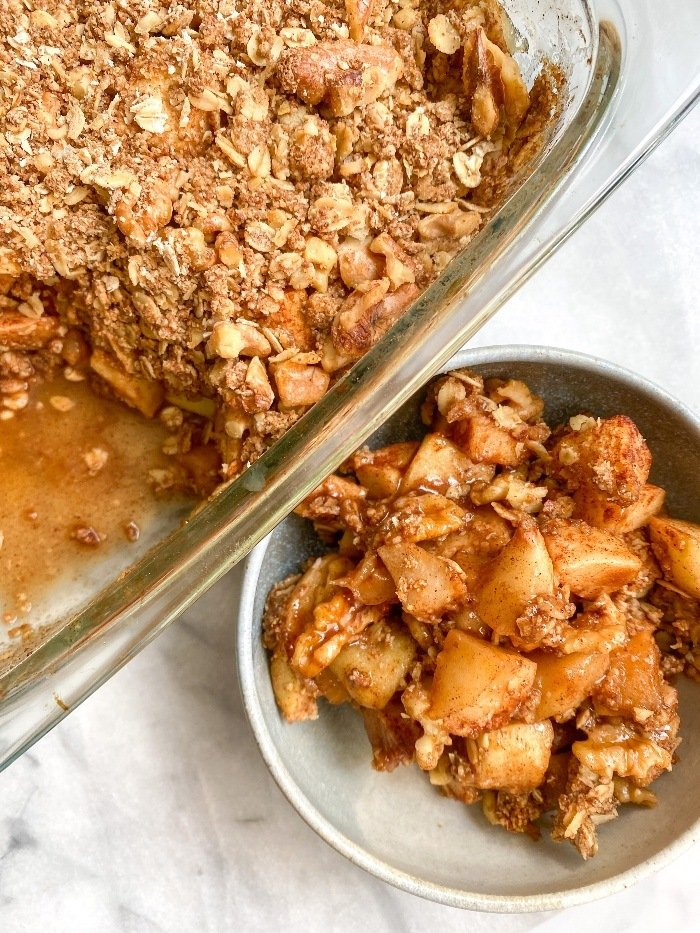 secretly healthy apple crisp recipe