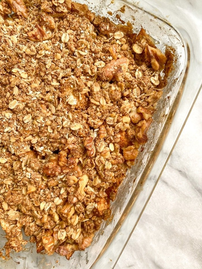 easy healthy apple crisp