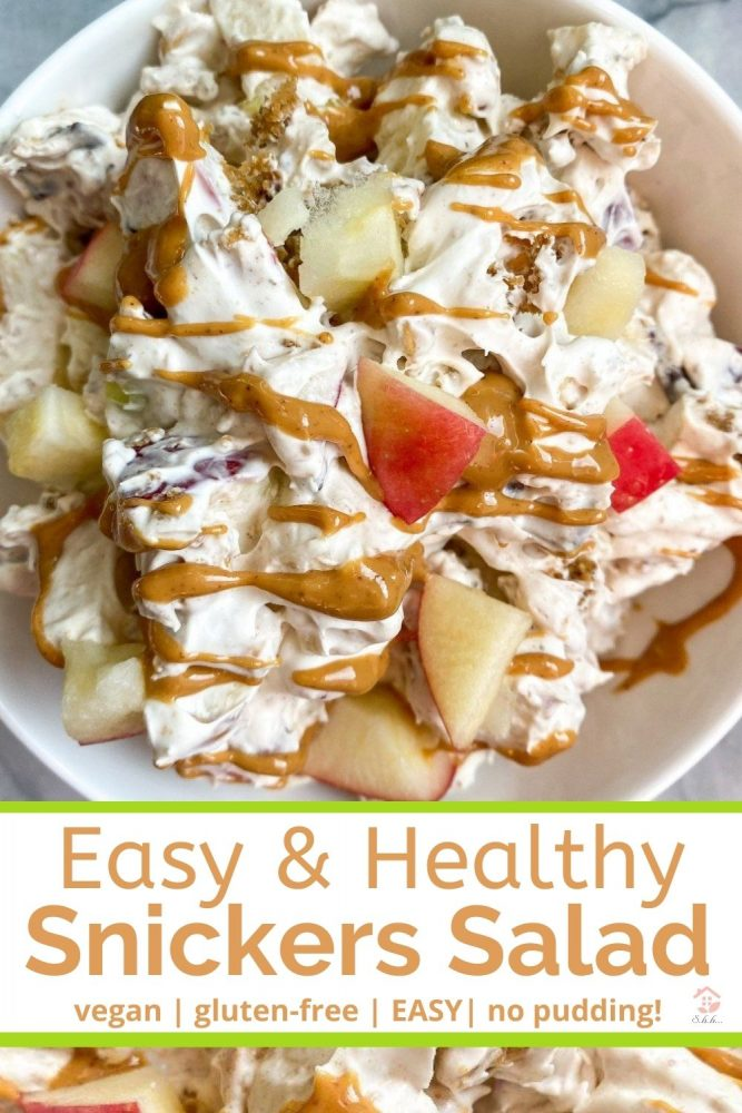 easy snickers salad pinterest image
