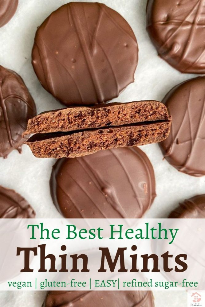 healthy thin mints pinterest pin image