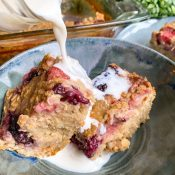 Berry Baked Oatmeal (Easy + Protein-Packed!)