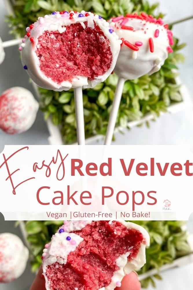 easy red velvet cake pops pinterest pin