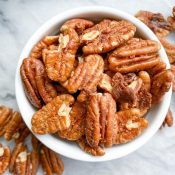 Healthy Candied Pecans (5 Minutes!)