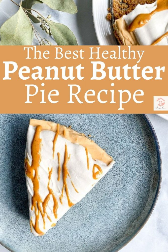 no bake peanut butter pie pinterest image